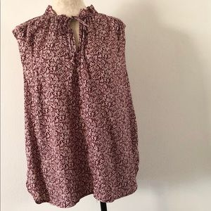 Ann Taylor Loft floral blouse XL